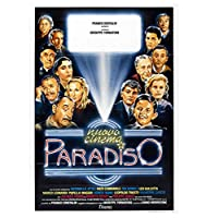 Nuovo Cinema Paradiso Hot Classic Movie Cover Wall Art Canvas Painting Poster Picture Living Room Home Decor Gift -50x75cm フレームなし