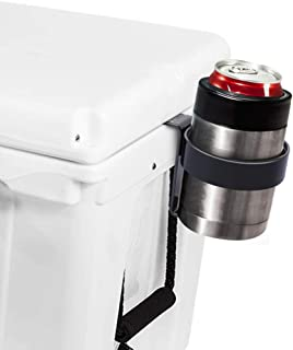 AIEVE Cooler Beverage Holder, Stainless Steel Cooler Drink Holder Cooler Cup Drink Holder Stand for YETI Coolers & RTIC Coolers with Tie-Down Slots