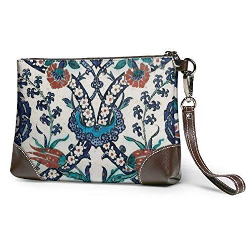 BFDX Antike Fliesen Geschenk Leder Wristlet Clutch Geldbörsen Tasche Crossbody Clutch Wallet Handtaschen für Frauen
