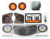 Replacement Decals Stickers Fits Little Tikes Cozy Coupe II Grey