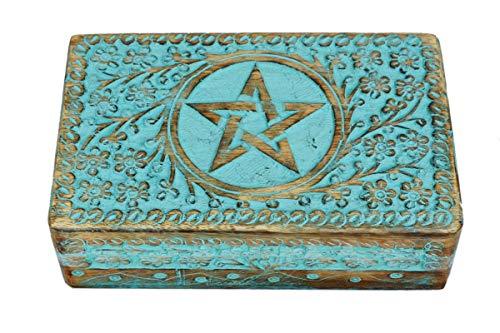 Mandala Decorative Wooden Jewellery Box Celtic Organizer Keepsake Trinket Prayer Book Holder Watch Tea Bag Box Coin Collector Charms Keeper