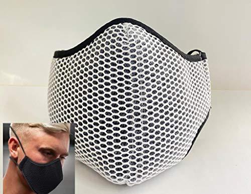 Mascarilla deportiva blanca tejido 3D homologada reutilizable producto español