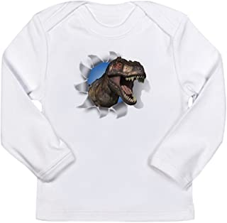 12 To 18 Months Truly Teague Long Sleeve Infant T-Shirt Football Playing Dinosaur Cloud White
