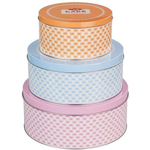 Tala diseño Retro Redondo latas para Dulces Parent, hojalata, Mixto, 25 x 25 x 10 cm
