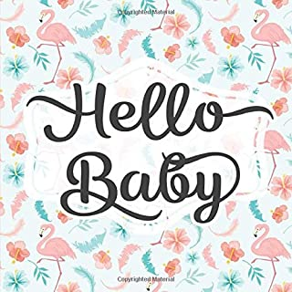 Hello Baby: Baby Shower Guestbook - Space for Photos - Summer Pink Flamingo