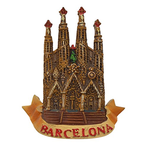 Hongma Magnete del Frigorifero Calamita da Frigo Magneti per Frigo Spagna Barcellona Chiesa Scenario Fridge Magnet Regalo