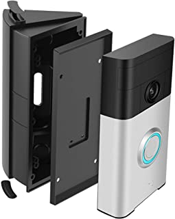 HOMONO Waterproof Adjustable 30 to 55 Degree Angle Mount for Ring Video Doorbell 1st and 2nd Angle Adjustment Adapter Mounting Plate Bracket Wedge Kit (Doorbell NOT Included)
