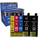 Alaskaprint 34XL Druckerpatronen Ersatz für Epson 34XL 34 Kompatibel für Epson Workforce Pro WF-3720dwf WF-3725 WF-3725DWF WF-3720 Patronen (2 Schwarz, 1 Cyan, 1 Magenta, 1 Gelb)