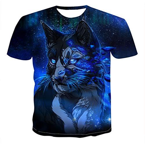 SSBZYES Camisetas para Hombre Camisetas De Manga Corta para Hombre Camisetas Estampadas para Hombre Camisetas De Manga Corta con Estampado De Lobo Camisetas para Hombre con Estampado De Lobo
