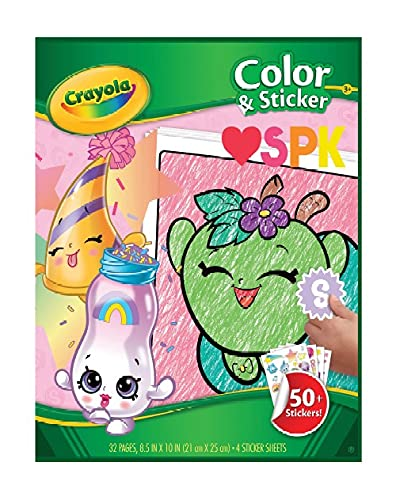 Crayola Shopkins Color and Sticker Book