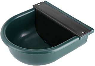 Green Durable Plastic Water Bowl, Automatic Float Valve Water Trough Livestock Drinking Bowl for Cat Sheep Dog