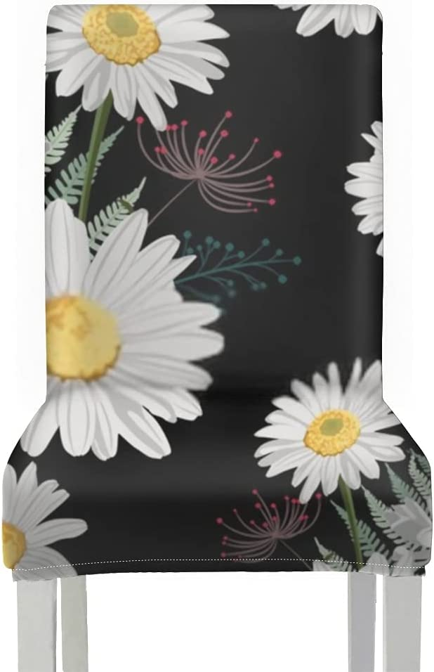 Chair Covers for Dining Roo 2pcs Field Cash special price Seamless H Pattern High material Flower