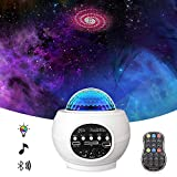 Star Projector Night Light Projector with LED Galaxy Ocean Wave Projector Bluetooth Music Speaker for Baby Bedroom,Game Rooms,Party,Home Theatre,Night Light Ambiance