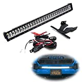 iJDMTOY Lower Grille 30-Inch LED Light Bar Kit Compatible With 2016-up Toyota Tacoma, Includes (1) 180W High Power LED Lightbar, Lower Bumper Opening Mounting Brackets & On/Off Switch Wiring Kit