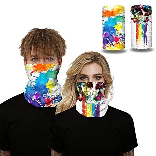 MUJUZE Tour de cou 3D pour homme et femme - Multifonction - Coupe-vent - Masque de moto - Masque de ski - Masque tempête de snowboard - Protection UV, Group1