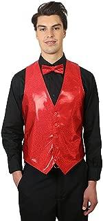 Men's Sparkling Vest and Bow Tie Set