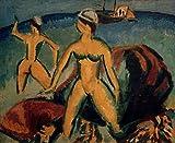 Kunstdruck/Poster: Ernst-Ludwig Kirchner Badende Fehmarn -