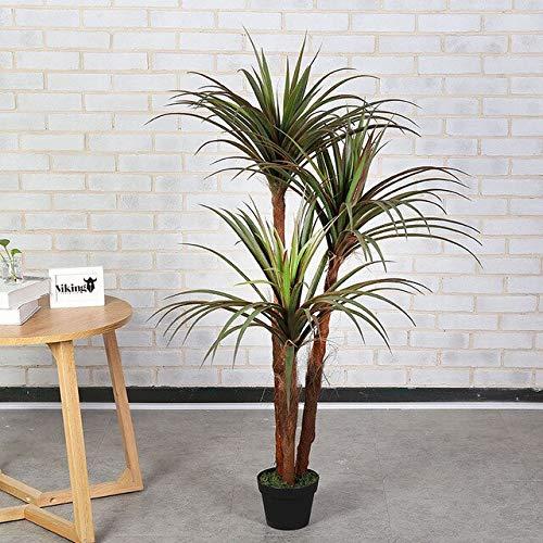 Ferry Neue große Grünpflanze 150cm 3 Stiele Drachenblut Draht Orchidee Baum Bonsai künstlichen Baum künstliche Pflanze Hauptdekoration: 1.5m