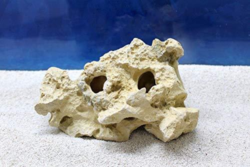Amtra Fels Gallura Beige Vertikal S Dekoration Aquarium Deko Versteck Steine Felsen Garnelen Fische Dekofigur Dekosteine