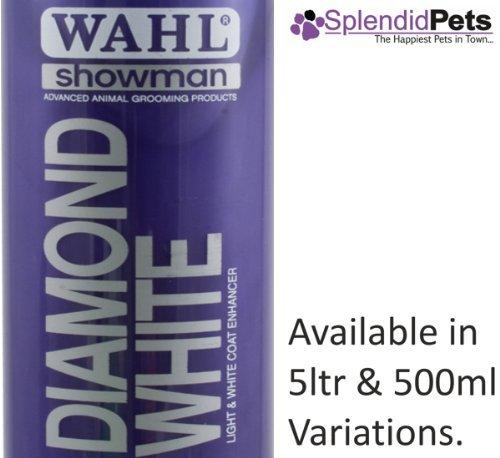 Wahl Shampooing pour chien Showman Diamant Blanc 500ml Shampooing pour chien/cheval de toilettage