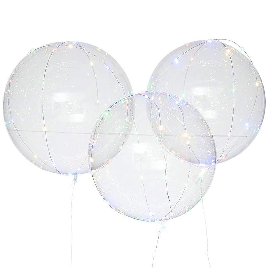 Winner666 Exquisite Fashion 3Pcs Reusable Luminous Led Balloon Transparent Round Bubble Decoration Party