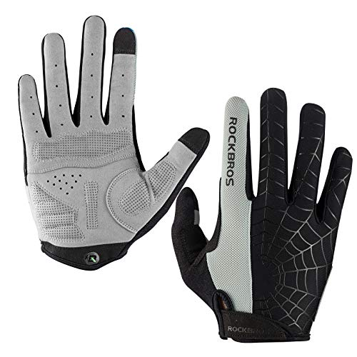 ROCKBROS Fahrradhandschuhe Herren Touchscreen Handschuhe Damen Vollfinger Sporthandschuhe Laufhandschuhe Frühling Herbst Gr. S - XL Atmungsaktiv