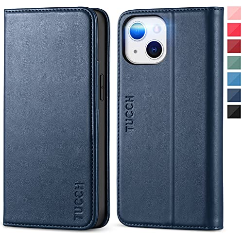 TUCCH Case for iPhone 13 Mini Wallet Case, Stand Holder Premium PU Leather Flip Folio Book Case with Credit Card Slot [Shockproof TPU...
