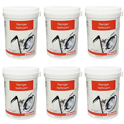 6er Pack Miele Maschinenreiniger 10133940 - Passend für Geschirrspüler, Waschmaschinen 200 g / Spülmaschinengeeignet