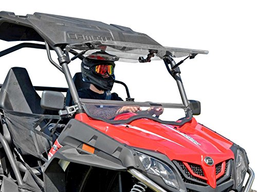 """SuperATV Scratch Resistant 3-in-1 Flip Windshield for 2014+ CFMOTO ZForce 500/800 Trail / 800 EX / 1000 