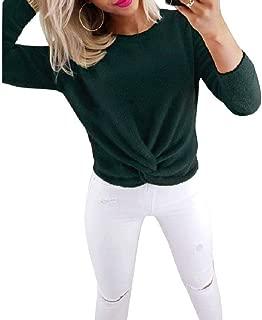 Winwinyou Women Knit Jumper Slim Tie Knot Front Pullover Sweaters