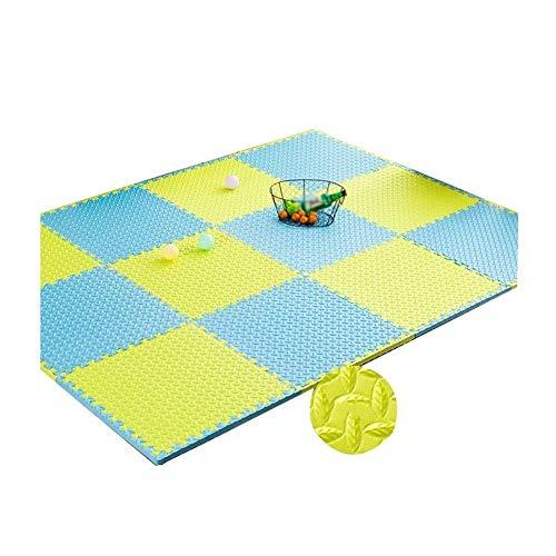 ZTMN Baby Play Mat Foam Puzzel Vloertegels met Grensbuffer Zachte kruiptapijten Anti-slip Dorm Kamer Kleuterschool Woonkamer, 1,2 cm Dik, 12 Kleuren, 60x60cm (Kleur : K, Maat : 6-Tegels)