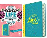 Tyndale NLT Girls Life Application Study Bible, TuTone (LeatherLike, Teal/Yellow), NLT Bible with Over 800 Notes and Features, Foundations for Your Faith Sections