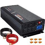 aeliussine 1500 watt Pure Sine Wave Inverter 24v dc to ac 110v 120v with LCD Display Power Inverter...