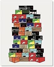 Stacked Shoebox Collection - Hypebeast Sneaker Poster - Sneakerhead Bedroom Decor Wall Art - 11x14 - Unframed