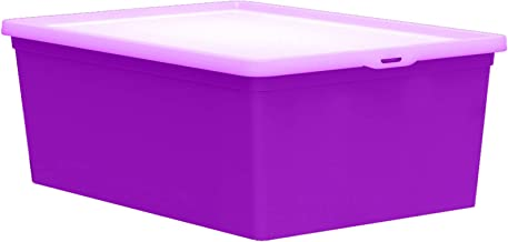 QUTU Light Box Storage Box - Purple H 16.5 cm x W 9.5 cm x D 19 cm