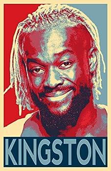 Kofi Kingston Illustration - WWE Wrestler Fitness Pop Art Home Decor Poster Print  11x17 inches
