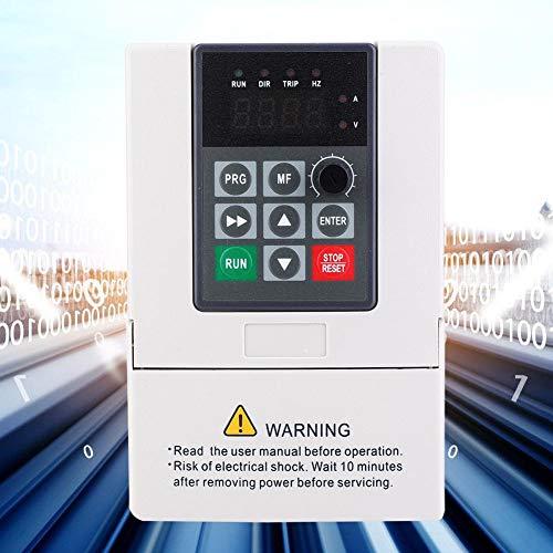 Inversor de frecuencia, convertidor de frecuencia VFD 1,5 KW-7,5 KW VFD 3 phasiger 380 V entrada y salida de frecuencia convertidor de frecuencia, convertidor VFD regulador de velocidad (4,0 A)