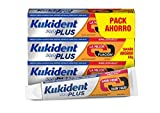 Kukident Plus Doble Acción Adhesivo para prótesis dentales, Pack de 3