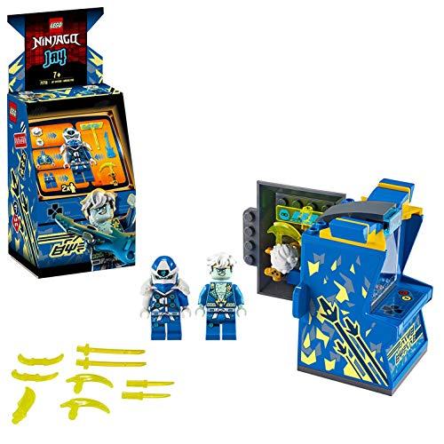 LEGO 71715 NINJAGO Avatar Jay – Tragbare Arcade Kapsel, Ninja-Spielzeug für Kinder zum Sammeln