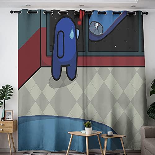 Petpany Crewmate - Cortinas opacas para habitación de niños, oscurecimiento, aislamiento de luz, bloqueo de ruido, para niños y niñas, dormitorio, 63 x 63 cm