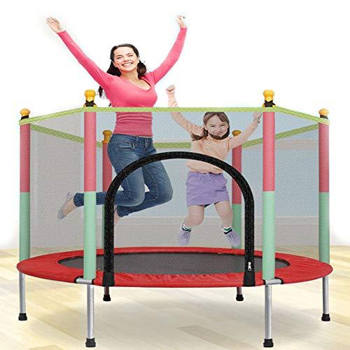 Sock Jumper Cama elástica de Jardín,Red de Seguridad, Apta para Exterior o Interior, Peso máximo 400 kg,Varillas Acolchadas, Gran Estabilidad