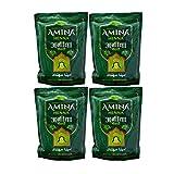 Amina Henna Mehndi Natural Henna Powder For Skin Hand and Hair, Green, 4000 G (Pack of 4)