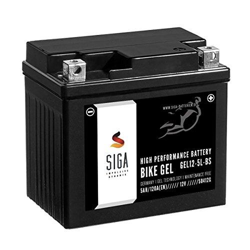 SIGA Gel Motorradbatterie 12V 5Ah 120A/EN YTX5L-BS Gel Batterie GEL12-5L-BS YTX5L-4 CTX5L-BS ETX-5L-BS GTX5L-BS 50412LF