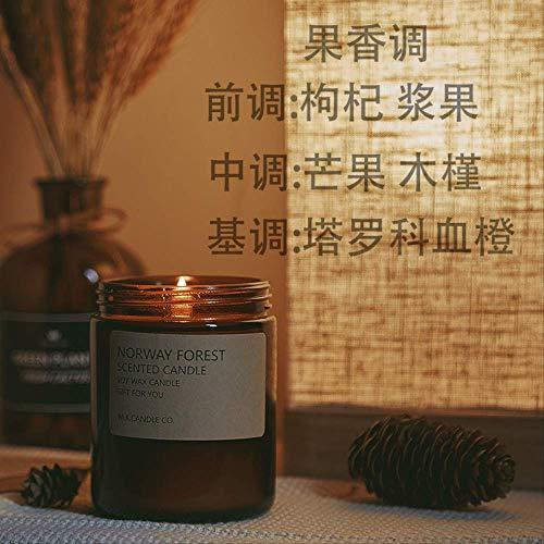 La Vela Perfumada De Soja Alivia El Sueño Y Purifica La Decoración Duradera del Interior del Hogar del Dormitorio De Aire 7 * 9 Cm Bayas de Goji