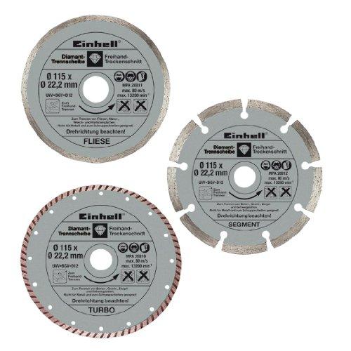 Einhell 4440338Diamant-Trennscheibe für Winkelschleifer (3Stück)