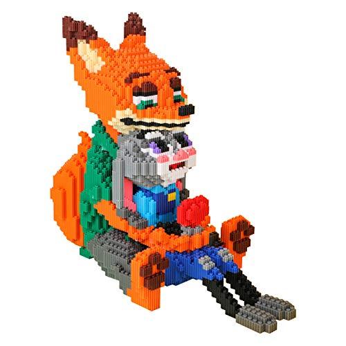 BAIDEFENG Mini Baustein Cartoon Fox...