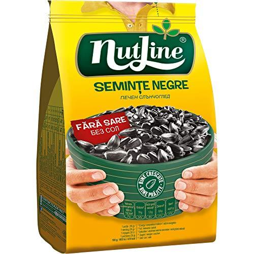 Nutline - Black Sunflower Seeds Roasted - 1 Pack 300g (Without Salt)