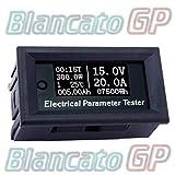 7 en 1 OLED blanco indicador carga termómetro amperímetro voltímetro wattmetro DC