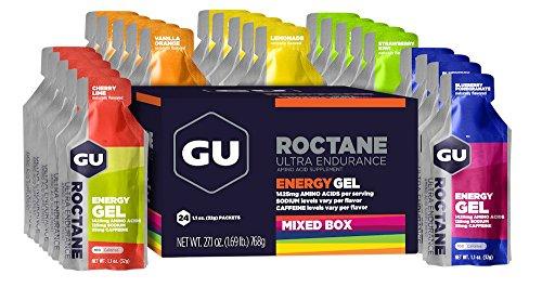 GU ROCTANE Energy Gel, 24 x 32 g Gel, Mixed Box (6 Sorten a 4 Stück)
