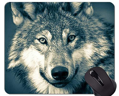 Alfombrilla de Goma Antideslizante para Juegos, un Paquete de Lobos en la Nieve Alfombrilla de ratón